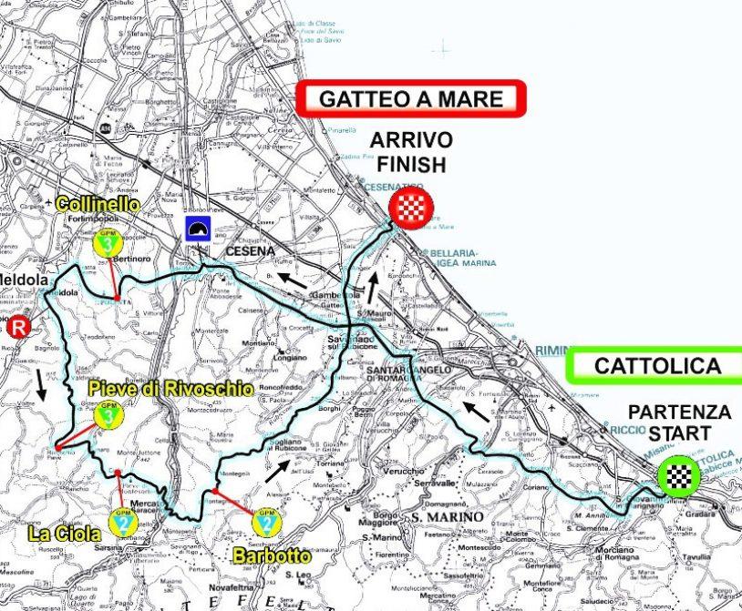 4ª Tappa Plan Gen 0103 CATTOLICA - GATTEO A MARE 2020
